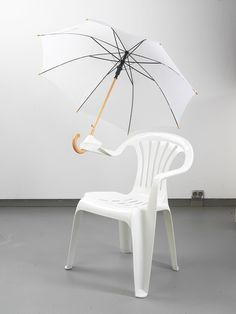 monobloc chair by Bert Loeschner. portland minded, cept brollies are for wimps here.