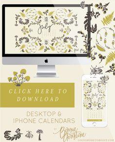 july 2016 desktop + smartphone calendars by bonnie christine (6)