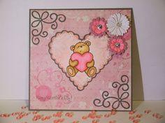 Mein Kreativeck: Bärige Grüße zum Valentinstag