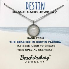 ec49311ca Destin Florida Beach Sand Jewelry handmade by Beachdashery #beachjewelry  #sandjewelry Destin Florida, Destin