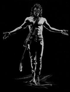 The Crow / Brandon Lee - Art by Steve Oatney Brandon Lee, Bruce Lee, Crow Movie, Epic Movie, Goth Art, Erotic Art, Dark Fantasy, Shades Of Grey, Gorgeous Men