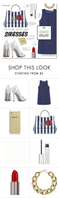 """""""Rose ~Trow and Go Dresses"""" by meleuterio ❤ liked on Polyvore featuring MANGO, Kate Spade, Dolce&Gabbana, Givenchy, Urban Decay, Chanel and Kenneth Jay Lane"""