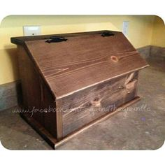 Handmade Wooden Bread Box Primitive Kitchen By Againstthegrainllc
