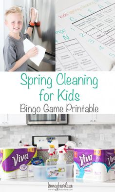 Spring Cleaning for Kids - this Bingo game printable makes it easy to get the kids involved in your spring cleaning! #springclean16 #walmart #ad http://bit.ly/1PWSfV9