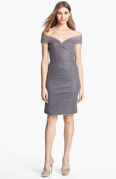 Soft grey tulle dress by ML Monique Lhuillier