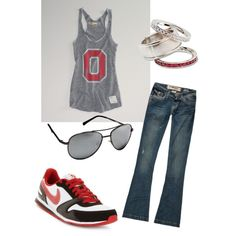 I <3 This Ohio State Buckeye Outfit! Great for Tailgating and an OHIO STATE BUCKEYE GAME!!!!!