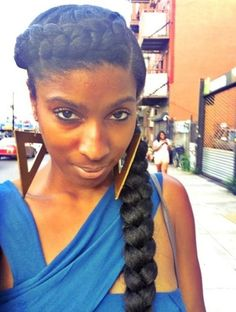 Goddess crown braid. Can be done with or without extensions. Come @ Bintou Hair Braiding & Weave if you want this hairstyle