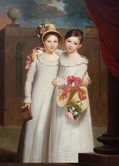 """The Ragan Sisters,"" c1818,  Jacob Eichholtz (1776-1842)"