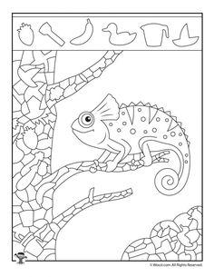 Iguana Hidden Picture Activity