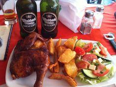 Crunchy lunch served @ Captain Hook's Restaurant, Takoradi.