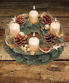Advent wreath golden time - order now from Valentins Christmas Lamp, Christmas Lanterns, Christmas Tree Design, Christmas Centerpieces, Christmas Crafts, Christmas Ornaments, Valentines Day Decorations, Xmas Decorations, Advent Wreath