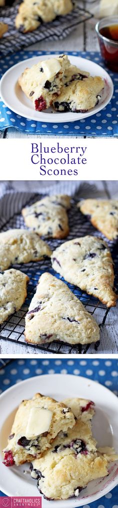 Delicious Blueberry Chocolate Scones that melt in your mouth! Perfect for everyday or special occasion.
