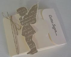 beemybear's Stempelblog: Gift Card Holder zur Konfirmation/Kommunion Diy Stationery Cards, Cadeau Communion, 3d Sheets, Stampin Up Christmas, Origami Paper, Stamping Up, Scrapbook Cards, Christening, Paper Art