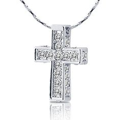 Silver Tone Cross Pendant Necklace with Simulated Crystal... http://www.amazon.com/dp/B01BUGK7Y6/ref=cm_sw_r_pi_dp_5FIhxb002GXHY