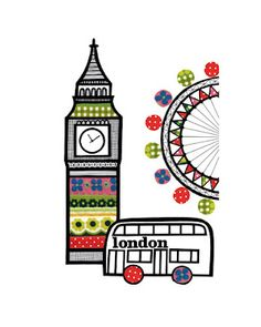 London bus, Big Ben and London Eye - Jane Foster Art Beat, Framed Artwork, Framed Prints, Art Prints, Illustrations, Illustration Art, London Illustration, Jane Foster, Framing Canvas Art