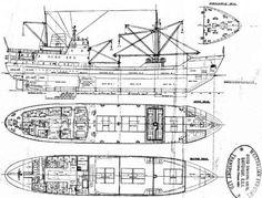 MV Magga Dan 1959-1961 Scale Model Ships, Scale Models, Deck Plans, Boat Plans, Fantasy Map, Navy Ships, Small Boats, Model Building, Steamer