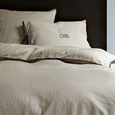 I love the Linen Cotton Duvet Cover + Shams - Plaster on westelm.com