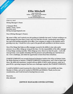 Cover Letter Template 2018 | Cover Letter Template | Pinterest ...