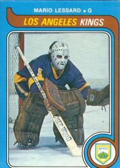 """Happy b'day to former LA tender Mario Lessard who could contort himself, pads and all, into a 2 cubic foot box. Hockey Cards, Baseball Cards, Los Angeles Kings, Nhl, Mario, Cubic Foot, Stars, Twitter, Happy"