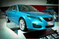 BYD F3 electric saloon at the Beijing Auto Show