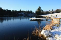Stunning Photos of #Blessingbourne's private lough Fadda in the #snow #winter