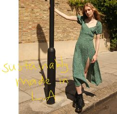 Why we all want to be wearing Reformation Selfridges London, Wrap Dress, Dress Up, Day To Night Dresses, Pearl Dress, Ethical Clothing, Summer Weddings, Fresh Green, Fashion Line