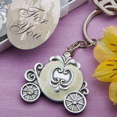Royal Coach Cinderella Royal Wedding Keychain Favors