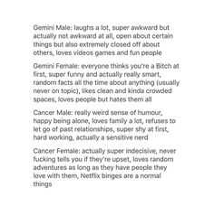 3/7. Zodiac Sign List, Zodiac Signs, Gemini Girl, Laugh A Lot, Zodiac Memes, Super Funny, Facts, Queen, Writing