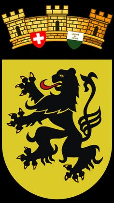 Blason de la commune de Dompierre. District de Broye-Vully. Canton de Vaud (Suisse)