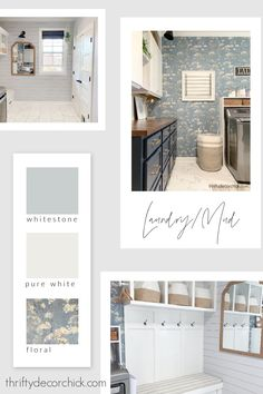 Thrifty Decor Chick laundry paint colors Thrifty Decor Chick, Diy Chalkboard, Floor Space, How To Take Photos, Mudroom, Old Houses, Decorating Your Home, Laundry Room, Paint Colors