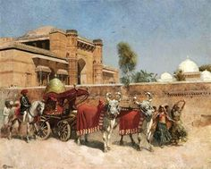 A Wedding Procession Before A Palace In Rajasthan  Edwin Lord Weeks (1849 – 1903)