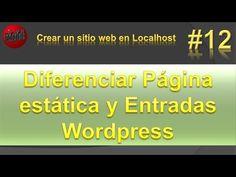 Diferenciar entre página estática y entrada en wordpress. Vídeo #12
