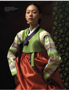 Designer Kim Min Jeong. 2010 Collection. Vivid colors and wondeful juxtaposition of stripes. Love her layering.
