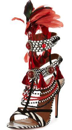 7ad48f65f5755 Voodoo Beaded Multi-Strap Sandal