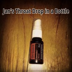 Take an empty 15 ml oils bottle with a spray cap and fill it with distilled water to within an 1/8 inch of the top. Then add:  8 drops On Guard 8 drops Lemon 4 drops Peppermint 1 drop Oregano or Thyme 2 drops Myrrh 1 drop Clove 1 drop Sandalwood 1 drop Cinnamon 2 drop Frankincense