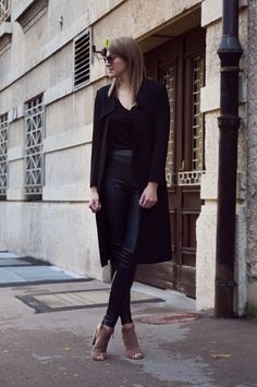 Leather Pants For Work 2017 Street Style