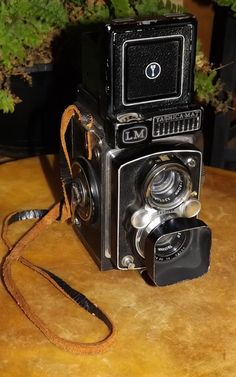 Antique Yashica Mat LM TLR Camera with Sun Hood and Lens Filter