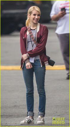 Emma Roberts & Ariana Grande Form Pink Clique in First 'Scream Queens' Trailer - Watch Now!