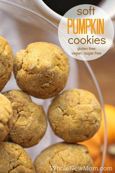 Looking for a Healthy Gluten Free Treat?  These Soft Pumpkin Cookies are Gluten Free, Dairy Free, Egg Free, and Sugar Free - They remind us of Enjoy Life Cookies, but without all the sugar and very little sweetener at that!  Great not just for fall, but all year round.