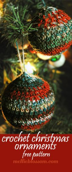 Crochet Christmas Ornaments - mellie blossom http://www.mellieblossom.com/crochet-christmas-ornaments/