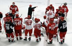 The Red Wings Training Camp is held every year at Centre Ice Arena in Traverse City.