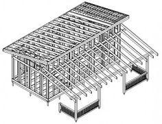 Каркасный дом-бытовка Раума (КД-34)