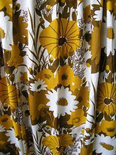 Pair of Retro Curtains Vintage 1960s / 1970s by RetroBerlin, $49.99