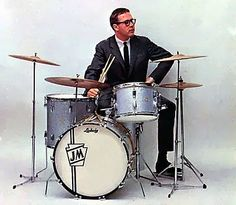 The legendary Joe Morello, in his equally legendary pose for a mid-1960s Ludwig drum catalog.