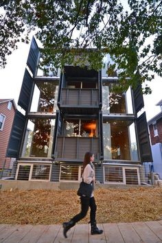 first shipping container apartment in D.C.