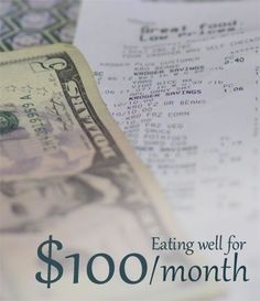 """I have been reading this blog's $100/month meal plans (for 2 people) for a while"