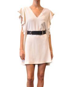 Jo No Fui Viscose dress with belt | Lindelepalais.com 13447