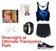 """""""Overnight at  Ultimate Trampoline  Park"""" by autumnn09 ❤ liked on Polyvore featuring NIKE, Disney and Champion"""