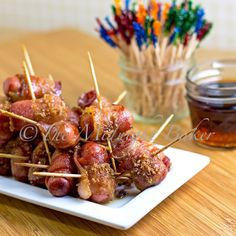 Sugar Maple Bacon Smokies these things are the best for parties or any type of gathering! I always serve them during my Superbowl parties!