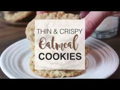 These thin and crispy oatmeal cookies are absolute perfection! Crispy, buttery, and completely addictive – I dare you to eat just one! Crispy Cookies, Yummy Cookies, Oatmeal Cookie Recipes, Oatmeal Cookies, Just Desserts, Dessert Recipes, Diabetic Desserts, Diabetic Recipes, Oatmeal Crisp
